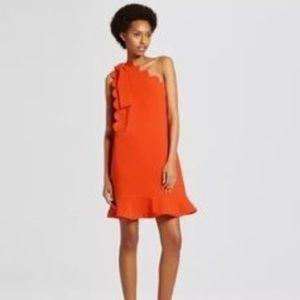 Victoria Beckham orange dress, M, NWT